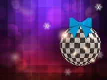 Bola abstracta de la Navidad del brillo en el partido Foto de archivo