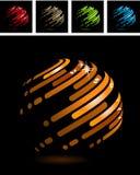 Bola abstracta hecha de rayas Fotos de archivo libres de regalías
