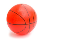 Bola alaranjada do basquetebol Fotografia de Stock Royalty Free