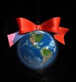 Bola América de la Navidad Imagen de archivo