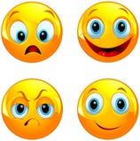 Bola amarela do smiley Imagens de Stock