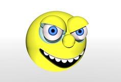 Bola amarilla con la cara Fotos de archivo