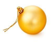 Bola amarilla de la Navidad Foto de archivo