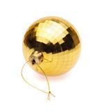 Bola amarilla de la Navidad Fotografía de archivo libre de regalías