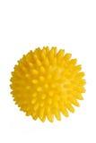 Bola amarilla del masaje imágenes de archivo libres de regalías
