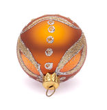 bola anaranjada de la Navidad Imagenes de archivo