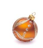 bola anaranjada de la Navidad Imagen de archivo libre de regalías