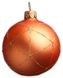 Bola anaranjada de la Navidad Fotografía de archivo