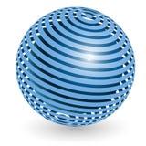 Bola azul ilustración del vector