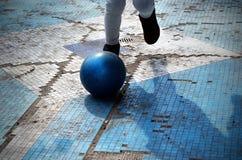 Bola azul Imagem de Stock Royalty Free