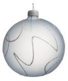 Bola azul clara de la Navidad Fotos de archivo