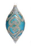 Bola azul de la decoración de la Navidad Imagen de archivo