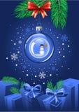 Bola azul de la Navidad Imagen de archivo libre de regalías