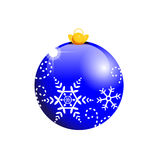 Bola azul de la Navidad Imagen de archivo