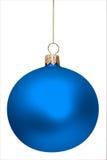 Bola azul de la Navidad aislada Imagen de archivo libre de regalías