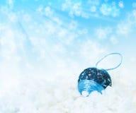 Bola azul del Año Nuevo Foto de archivo