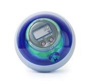 Bola azul del girocompás de la potencia, simulador de entrenamiento para la mano Imagen de archivo libre de regalías