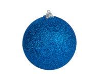 Bola azul do Natal Fotos de Stock Royalty Free