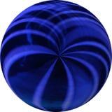 Bola azul e preta fotografia de stock royalty free