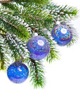 Bola azul marino del Año Nuevo s Imágenes de archivo libres de regalías