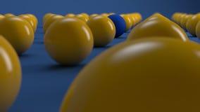 Bola azul proeminente Fotos de Stock Royalty Free