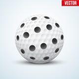 Bola blanca de Floorball del vector Fotos de archivo