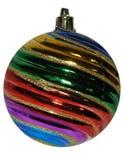 Bola brillante colorida de la Navidad y del Año Nuevo, decoración en el Ch Fotos de archivo