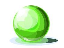 Bola brillante esmeralda Ilustración del Vector