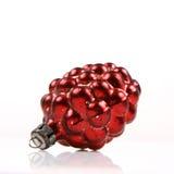 Bola cónica roja de la Navidad Imagen de archivo