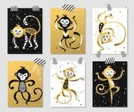 Bola china de la decoración del vector del mono del Año Nuevo