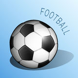 Bola clásica para el fútbol y el fútbol Imagen de archivo libre de regalías