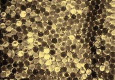 A bola claro de mármore, brilho colorido do arco-íris sparkles fundo Foco seletivo multicolored imagem de stock