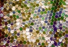 A bola claro de mármore, brilho colorido do arco-íris sparkles fundo Foco seletivo multicolored foto de stock