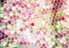 A bola claro de mármore, brilho colorido do arco-íris sparkles fundo Foco seletivo multicolored foto de stock royalty free