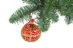 Bola colgante de la Navidad Imagenes de archivo