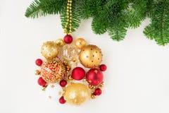 Bola colgante de la Navidad Fotografía de archivo