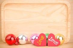 Bola colorida com amor Fotos de Stock