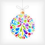 Bola colorida do Natal Foto de Stock
