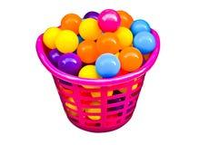 Bola colorida en cesta hermosa Imagen de archivo
