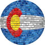 Bola con la bandera de Colorado Fotos de archivo