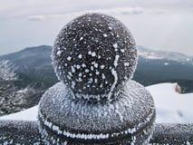 Bola congelada aço Fotografia de Stock Royalty Free