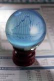 Bola cristalina Fotografía de archivo