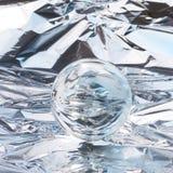 Bola cristalina abstracta Foto de archivo