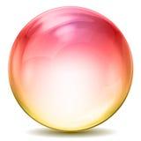 Bola cristalina colorida Foto de archivo libre de regalías
