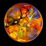 Bola cristalina colorida Imagen de archivo libre de regalías
