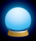 Bola cristalina de la caja de fortuna Fotos de archivo libres de regalías