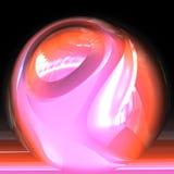 Bola cristalina de la caja de fortuna Imagenes de archivo