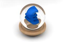 Bola cristalina euro Fotos de archivo libres de regalías