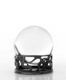 Bola cristalina llana en soporte Imágenes de archivo libres de regalías