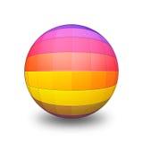 Bola 3D do arco-íris Foto de Stock